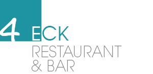 Logo 4Eck Restaurant in Garmisch-Partenkirchen, frische Küche, regionaler Einkauf, international gekocht.