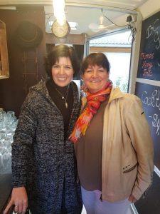 Uschi Glas und Kerstin Schumann, Inhaberinnen, 4Eck Restaurant Garmisch